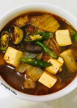 Sup tahu & kimchi