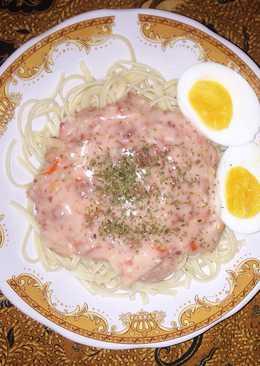 "Spaghetti Carbonara ""Spicy Rawit Creamy Sauce"""