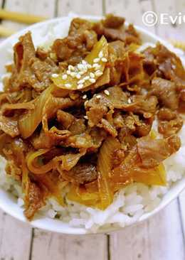 Gyudon/ Beef Bowl ala Jepang versi halal