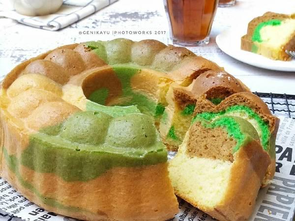 Marble sponge cake / bolu marmer