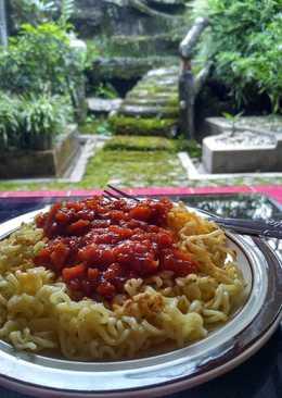 Spaghetti bolognese indomie