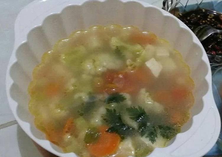 Sup Tahu (Masak di ricecooker)