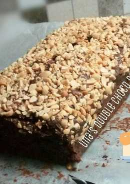Brownies double chocolate tanpa mixer