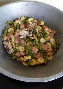 Oseng Buncis + Baby Corn + Sosis + Ayam