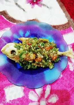 Ikan bawal sambal tomat hijau