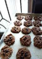 Crunchy Oat choco healthy cookies (full tepung gandum)