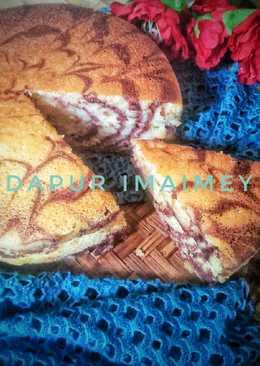 Marmer cake putih telur