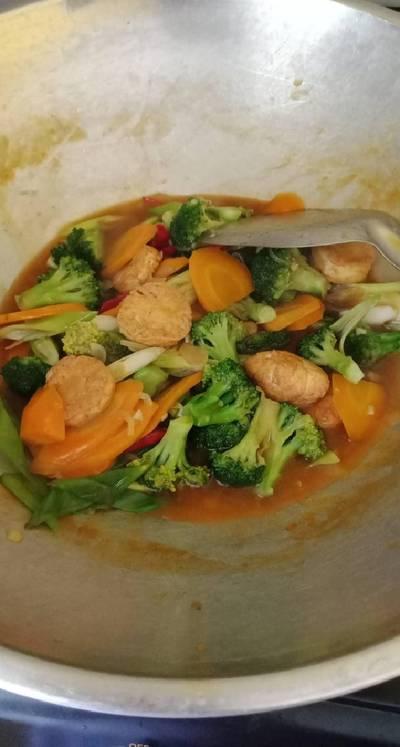 Brokoli cah tofu