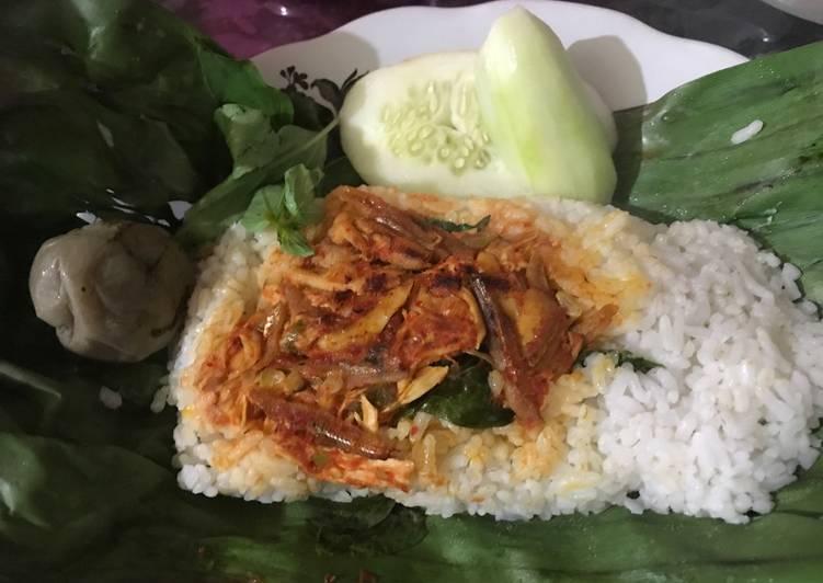 Resep Nasi bakar kemangi teri ayam By ulfahwahyuni