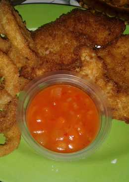Ayam Katsu, Onion Ring with Saus Asam Manis Pedas 98% 😀