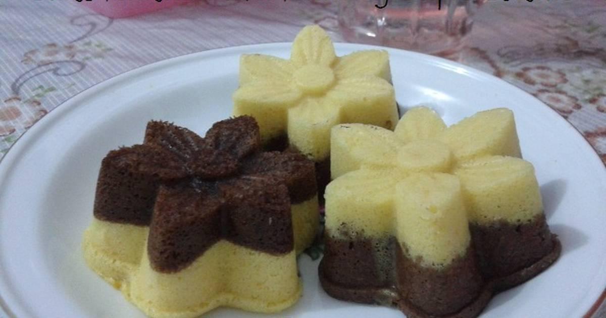 Resep Cake Kukus Labu Kuning Lapis Coklat