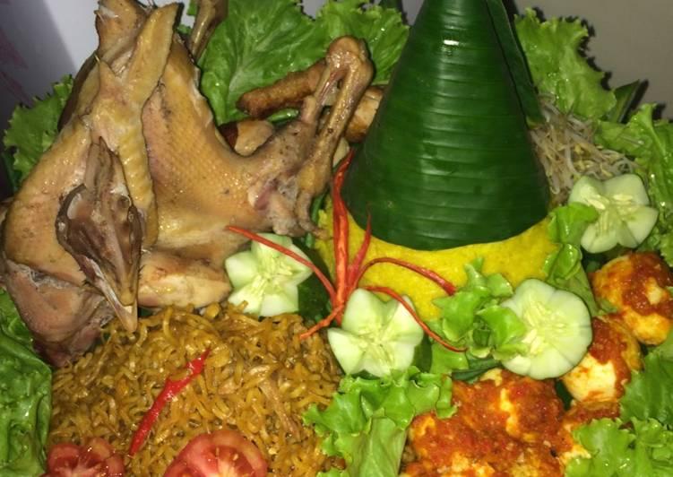 ayam ayam ingkung hias Resepi Tumpeng Nasi Kuning Enak dan Mudah