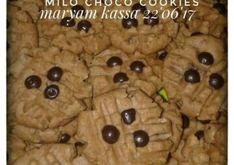 gambar untuk cara membuat Milo choco cookies