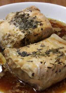 Salmon steamed with Honey and Soy Sauce
