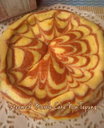Steamed Marble Cake Non Tepung #Ketopad #BikinRamadanBerkesan