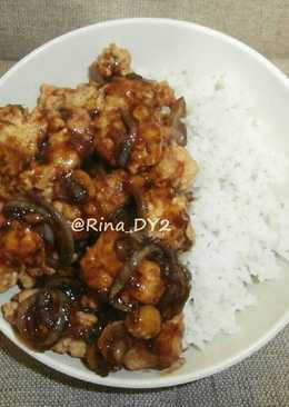 Chicken Popcorn Saus Teriyaki