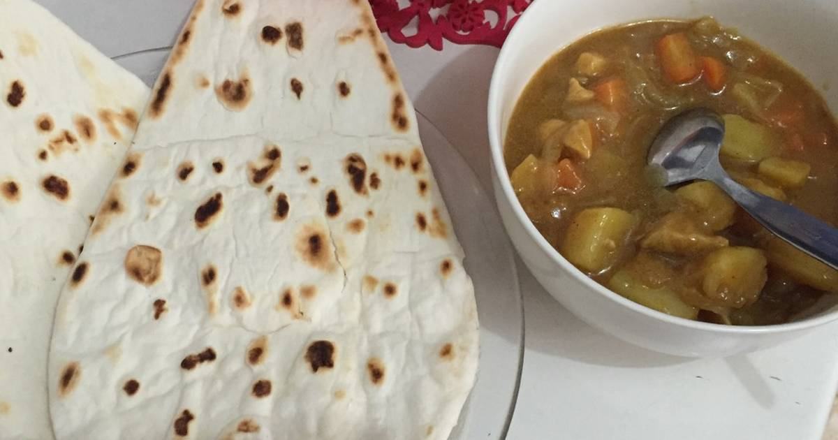 resep naan with chicken curry oleh tiin irdayati   cookpad