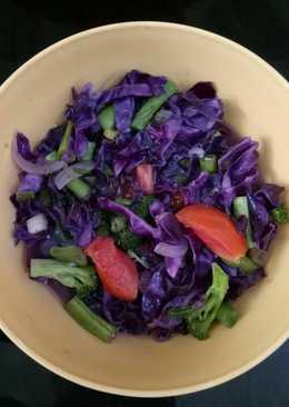 Capcay mudah dan sehat spesial kol ungu