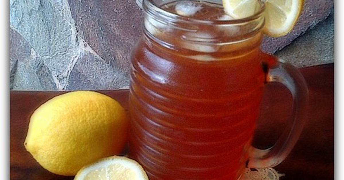 Resep Honey LEMON ICE TEA with soda water