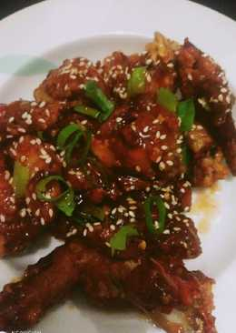 Spicy korean chiken wings