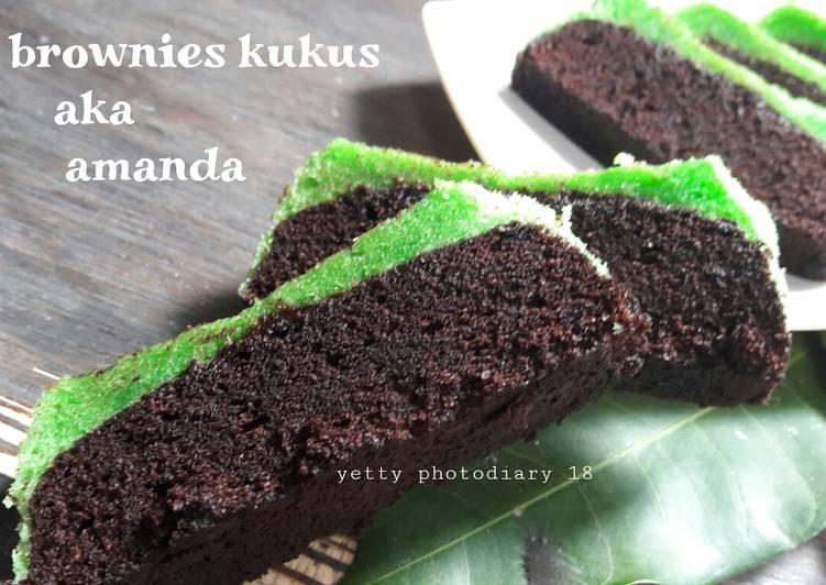 Brownies kukus coklat pandan #SelasaBisa