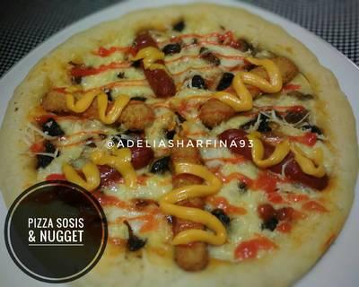 Pizza Sosis & Nugget (Tang Zhong)