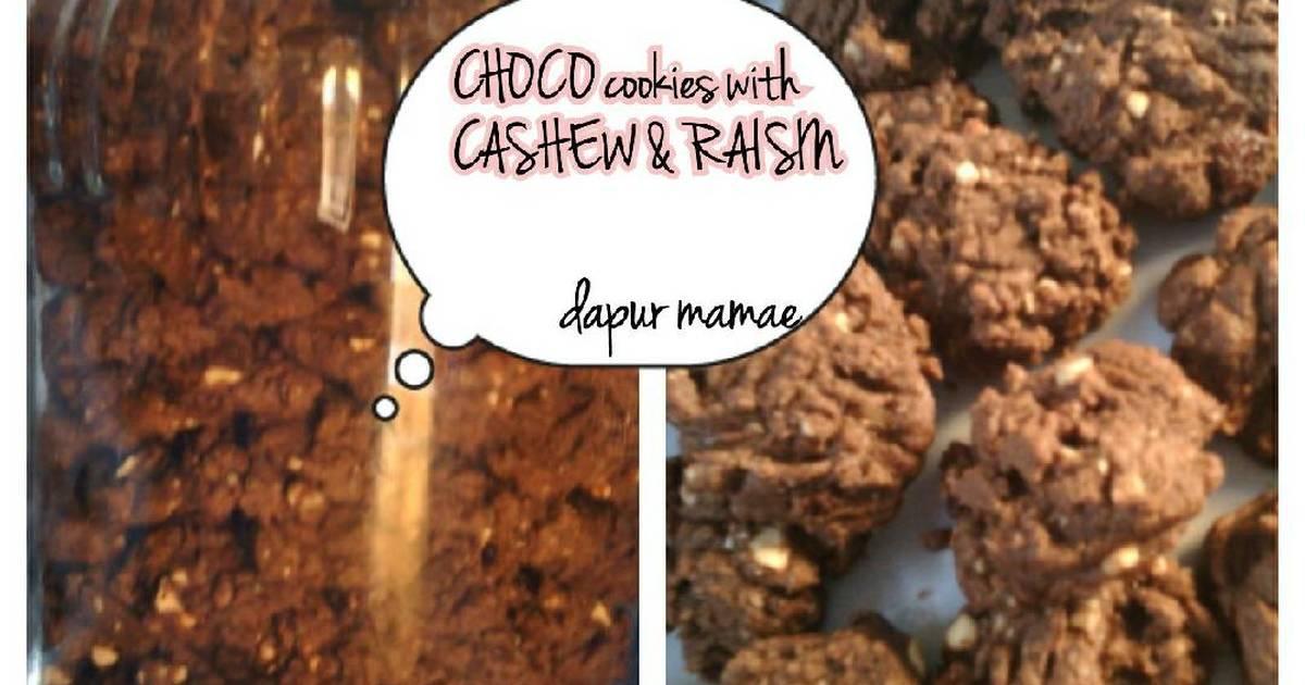 Resep Choco Cookies with Cashew & Raisin