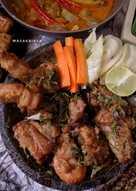 Ayam geprak sambal ijo terasi