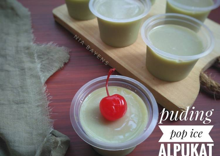 Silky pudding (pop ice alpukat)