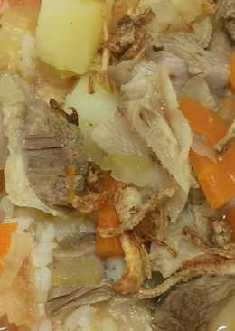 Sop sapi kentang wortel