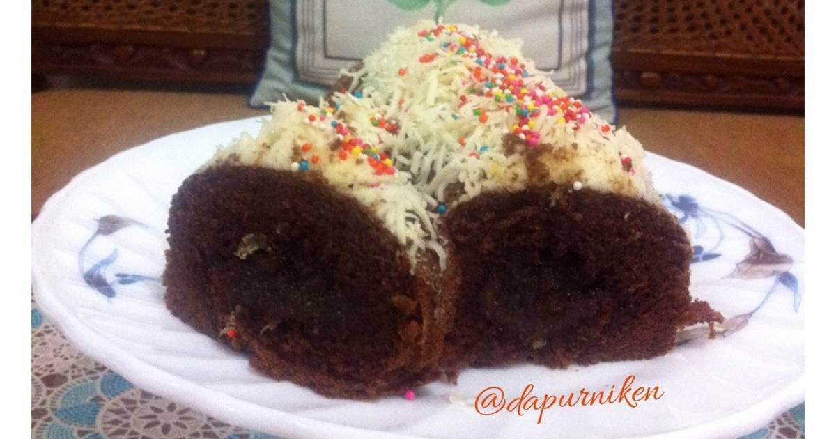 Resep Choco Roll Cake with Selai Nanas