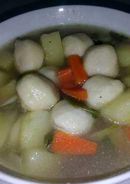 Sup bakso ikan #bikinramadanberkesan