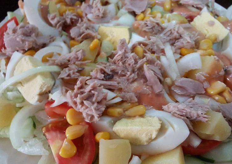 resep Salad tuna praktis