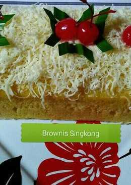 Brownis Singkong Tabur Keju