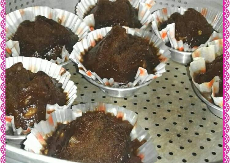 Bolu kukus coklat gula merah