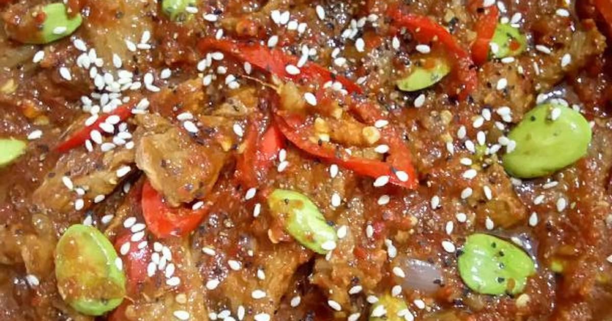 resep sapi sambal pete oleh dapurpempi   cookpad