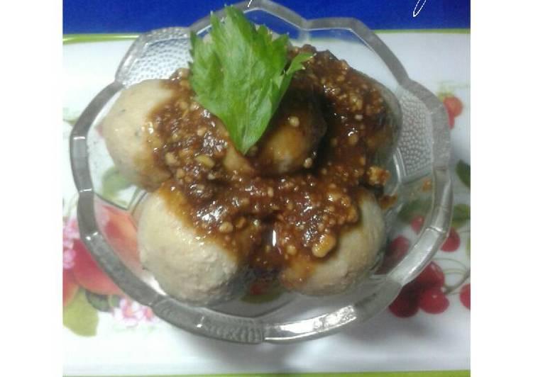 Bakso Tempe Saus Kacang (Menu Anak)