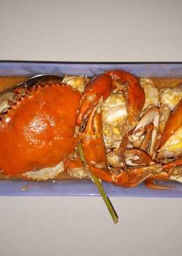 Kepiting saos mentega (masakan rumah sederhana)
