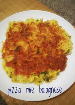 Pizza Mie Bolognese #rabubaru