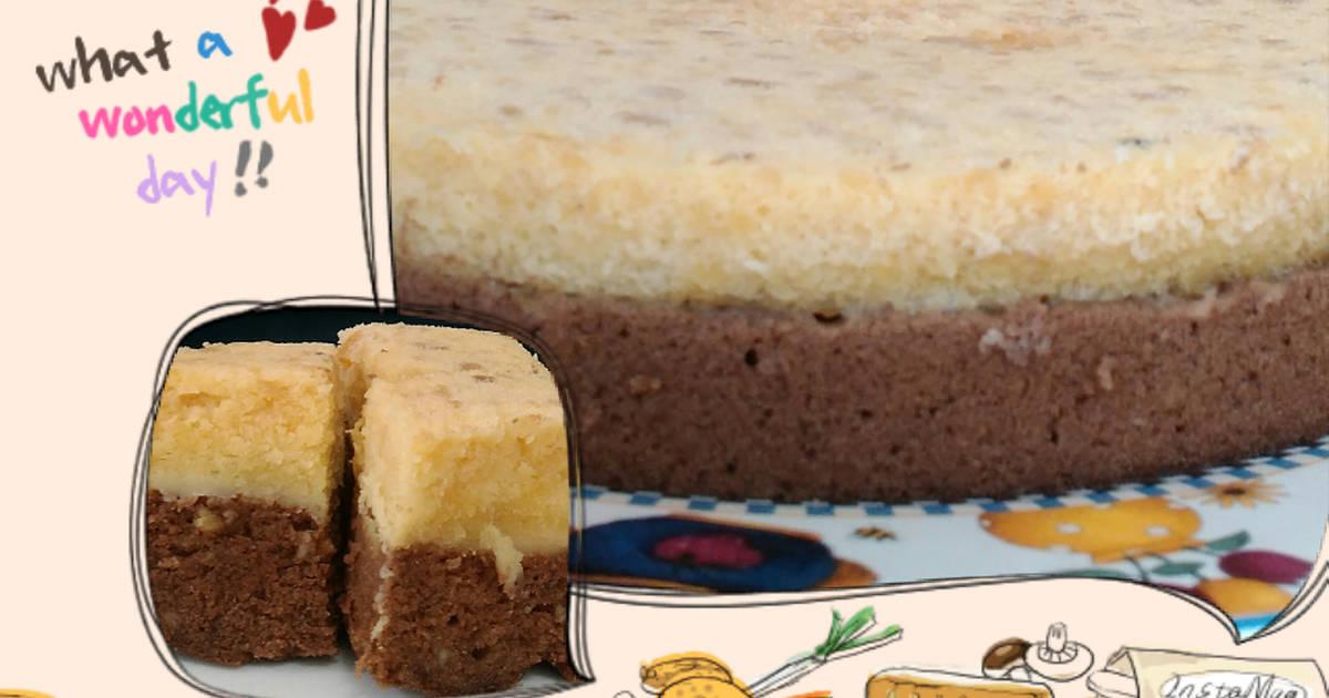 "Resep Cake Kukus Hesti Kitchen: Resep Brownies Kukus Tempe ""black & White"" Oleh Bunda AZIZ"