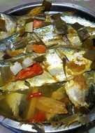 Steam ikan kembung sehat segarrrr sederhana