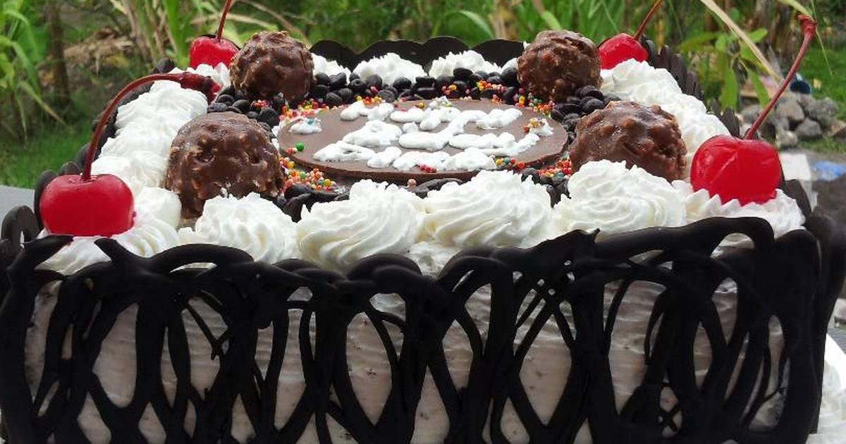 2616 resep simple chocolate birthday cake enak dan sederhana