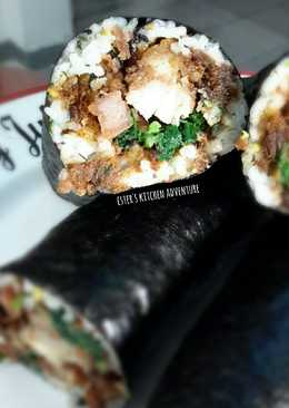Chicken Pork Sushi Buritto