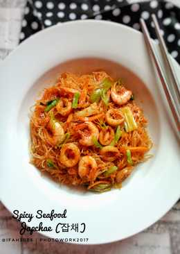 Spicy Seafood Japchae (잡채) #pr_asianfood