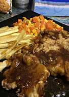 Crispy Chicken Steak with Simple Brown Sauce