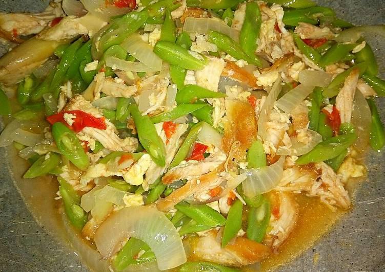 Resep Tumis Buncis Ayam Suir Kiriman dari Yuni
