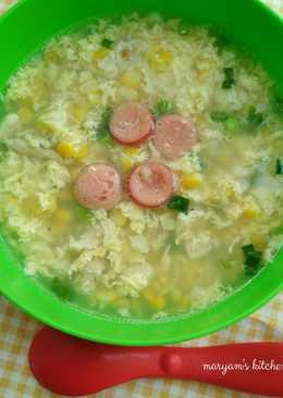Sup Jagung Telur Sosis 🌽 #mpASI #menuanak