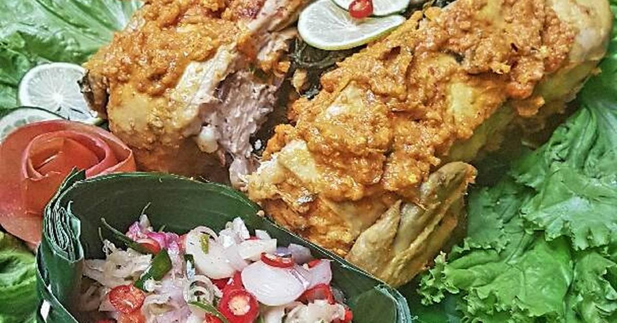 resep ayam betutu sambal matah   dapur kreasi
