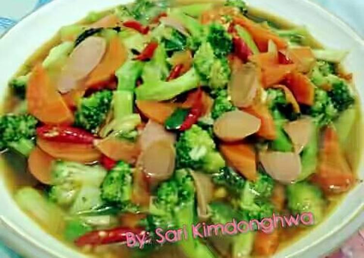 Brokoli Sosis Saus Tiram