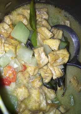 Sayur labu siam tahu masak santan